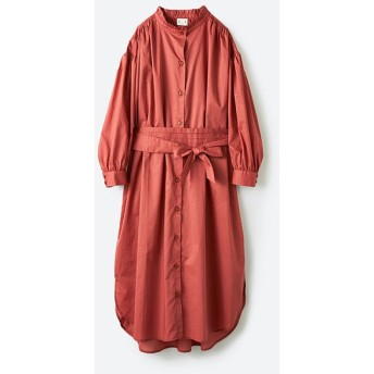 ハコ 羽織りにもなって着回しのきくサッシュベルト付きシャツワンピース レディース ピンク S 【haco!】