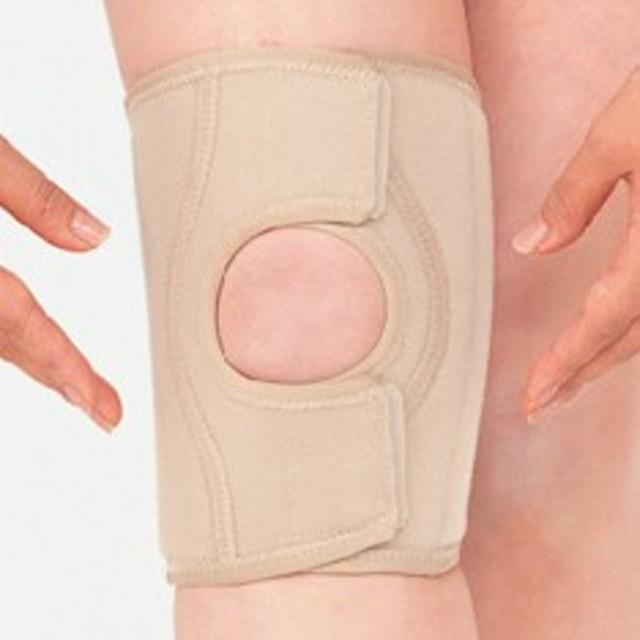 圧迫力が調節できるひざサポーター!つけて安心サポーター オープンタイプ  ひざ用Mサイズ