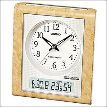 【正規品】CASIO カシオ クロック TQT-351NJ-7JF 置時計 白木目調 4971850954781