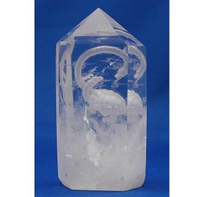 【鉱物】水晶ポイント・玄武彫り