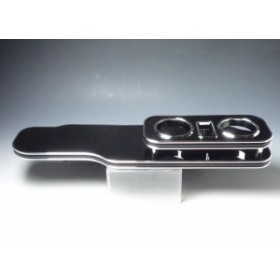 【売り切り! お買い得】CR系プレマシー フロントテーブル ブラック BKxシルバー 携帯中