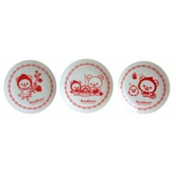 【新品】廃盤 RILAKKUMA Limited plate sets 3 pieces set リラックマ 非売品 限定 ケーキ皿 3枚セット ((SEGA 陶器皿) 071812