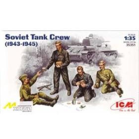 ICM 1/35 ソ連・戦車兵 リラックスポーズ4体 WW-II【IC35351】プラモデル 【返品種別B】