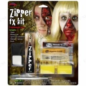 Zipper Character Kits コスプレ 衣装 ハロウィン ハロウィン 衣装 プチ仮装 変装グッズ パーティーグッズ 化粧 特殊メイク ホラーメイク