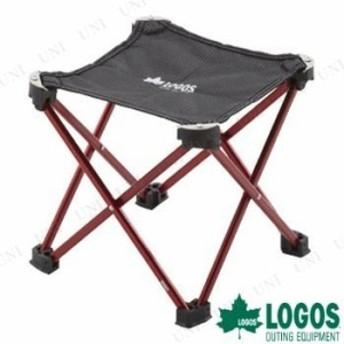 LOGOS(ロゴス) 7075キュービックチェア レッド イス キャンプ用品 折り畳み スツール フォールディングチェア 折りたたみ椅子 アウトドア