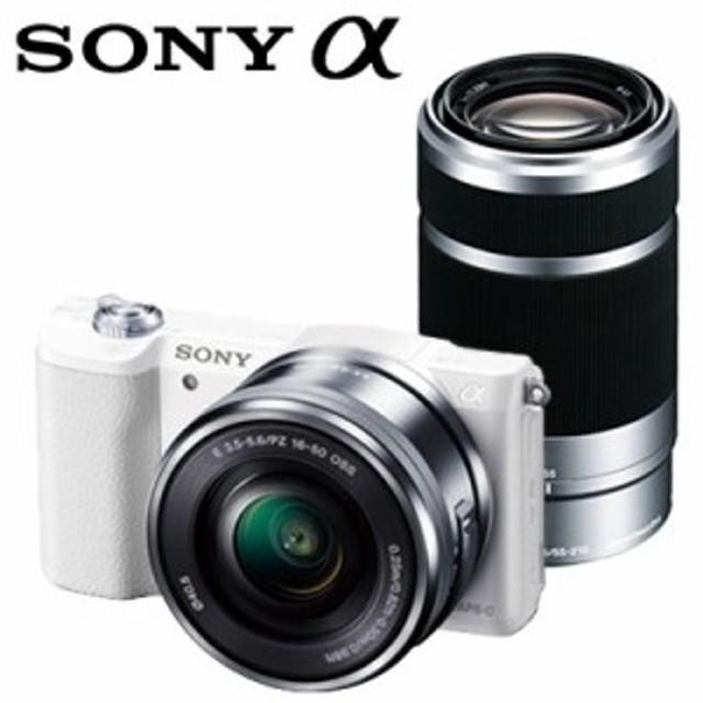 【送料無料】ソニー ミラーレス一眼 デジタル一眼カメラ アルファ α5100 ダブルズームレンズキット ILCE-5100Y-W