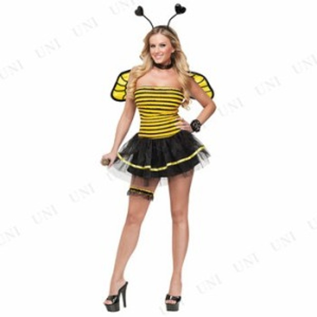 ビジービー 大人用(ML) 仮装 衣装 コスプレ ハロウィン 大人用 コスチューム 女性 ハチ ミツバチ 蜂 女性用 レディース パーティーグッズ