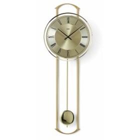 [送料無料][ドイツ製][AMS][アームス]繊細なデザイン インテリア柱時計/真鍮仕上げ/クォーツ式振り子壁掛時計/7083/ゴールド/アナログ