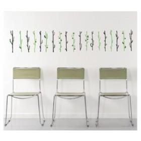 【Smart Design】オシャレな壁紙シール/果物の木/ノリ跡が残らない/壁飾りウォールステッカー#イエロー【新品/送料込み】