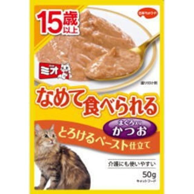 【日本ペット】ミオレトルト 15歳以上 とろけるペースト かつお 50g