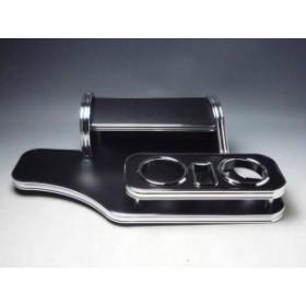 【売り切り! お買い得】GE6/9 フィット(07/10~)フロントテーブル携帯中 レザーブラック BKxフルメッキ