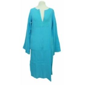 DEBBIE KATZ SOUTH BEACH「S」Natural drape dress デビーカッツ サウビーチ ナチュラルガーゼワンピース (USA) 063916【中古】