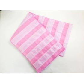 子供キッズ女の子浴衣ゆかたに 簡単ふわっふわ兵児帯ピンク&薄紫ライン
