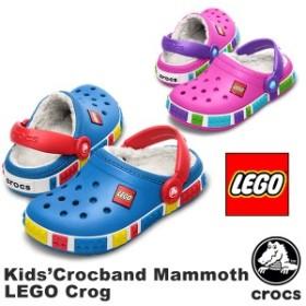 【送料無料】クロックス(CROCS) クロックバンド マンモス レゴ クロッグ(Crocband Mammoth LEGO Clog)子供用ボアサンダル[AA]