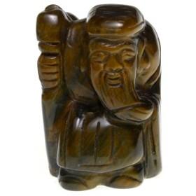 【天然石 彫刻置物】七福神 寿老人 (一体・台なし) ※ネコポス不可※ パワーストーン