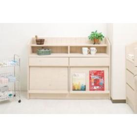 カウンタ-下ディスプレイ収納118.5cm幅・多目的・キャビネット・キッチン・リビング・デイスプレイ・日本製・完成品・家具・収納