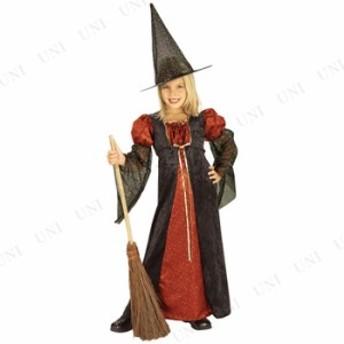 コスプレ 仮装 スパークルウィッチ(レッド) 子供用 L コスプレ 衣装 ハロウィン 仮装 子供 魔女 レッド キッズ コスチューム 子ども用 こ