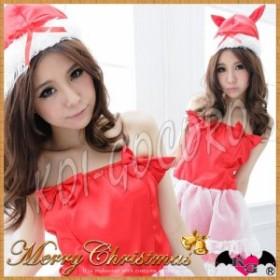 コスプレ 猫耳 サンタ レディース サンタクロース トナカイ ドレス コスチューム クリスマス