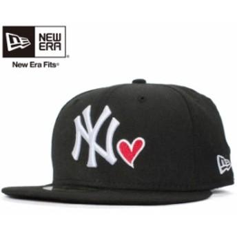 【新品】ニューエラ 5950キャップ ホワイトロゴ エムエルビーウィズハート ニューヨークヤンキース ブラック ホワイト New Era NewEra