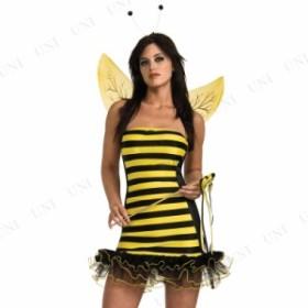 ビジー・ビー (S) 仮装 衣装 コスプレ ハロウィン 大人用 コスチューム 女性 ハチ ミツバチ 蜂 女性用 レディース パーティーグッズ 余興