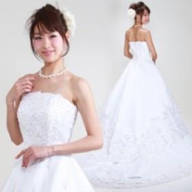 【ウェディングドレス レンタル 5号-7号】【Aライン】ウエディングドレス ウェディング ドレス 披露宴 6401 【往復送料無料】