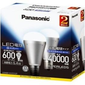 エバーレッズ LED電球 6.4W 小形電球下方向タイプ 昼光色相当 LDA6DHE172T(2コ入)[蛍光灯・電球]
