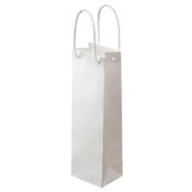 紙手提袋 丸紐 ワイン用・タテ長 ヨコ110×タテ360×マチ幅90mm 白無地 1パック(30枚)