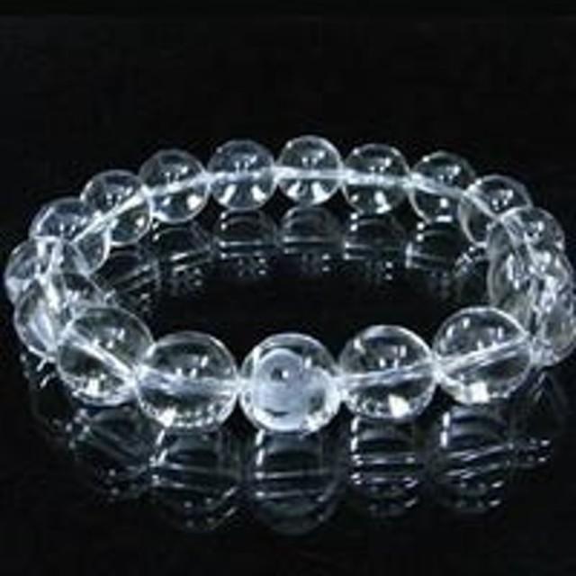 【手彫り白蛇(1珠)本格天然水晶ブレス】蛇眼が厄を払い、財福を招来する白蛇と天然本水晶のコラボブレス!