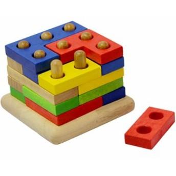 ボイラ(Voila) スタッキングジグソーズ S204F【木のおもちゃ 知育玩具 パズル 積み木 3歳~】【Edute】