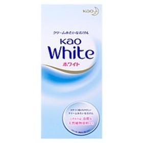 花王ホワイト レギュラーサイズ(6コ入) 花王 固形石鹸 100%植物石けん クリームみたいな石けん 保湿成分配合 スクワラン石鹸