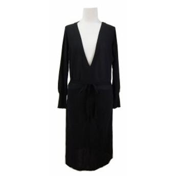 INED「9」Cotton knit drape dress イネド コットン ニット ドレープ ワンピース 068605【中古】