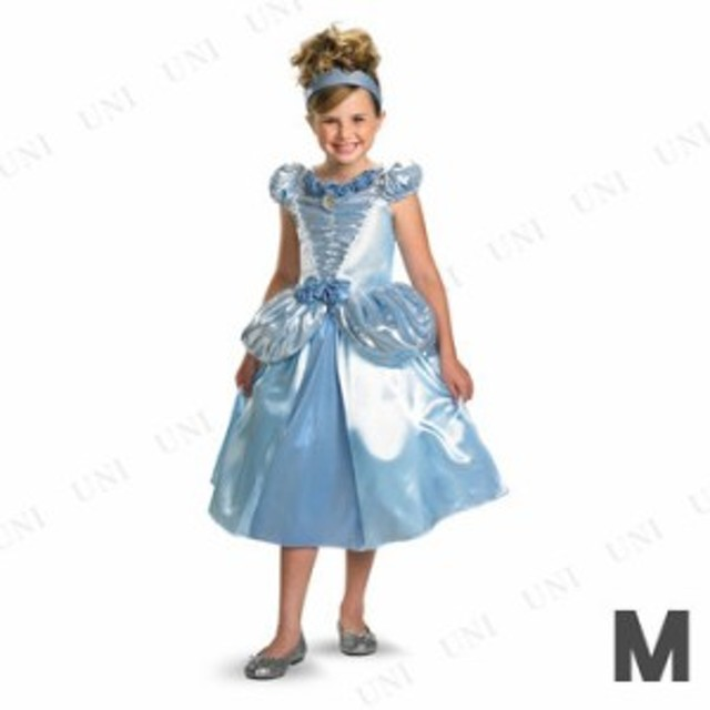 4250ea492db0b ディズニー シンデレラ シマーDX 女の子用 M(7-8) コスプレ 衣装 ハロウィン