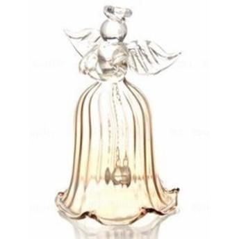 置物 ベル ガラス製 祈りの天使 (シャンパン)