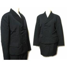 80's vintage NICOLE CLUB アバンギャルドダブルブレスセットアップスーツ・スカート・ジャケット (black avant-garde set up s 046806