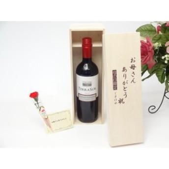母の日 ギフトセット ワインセット お母さんありがとう木箱セット(テラ・スル(カベルネ) 赤(チリ)750ml)ごギフト のし可