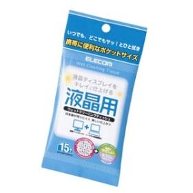 エレコム WC-DP15PN3 液晶用ウェットクリーニングティッシュ(15枚入)[WCDP15PN3]【返品種別A】
