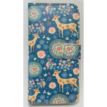 iPhone5 ケース 二つ折り バンビちゃん ブルー