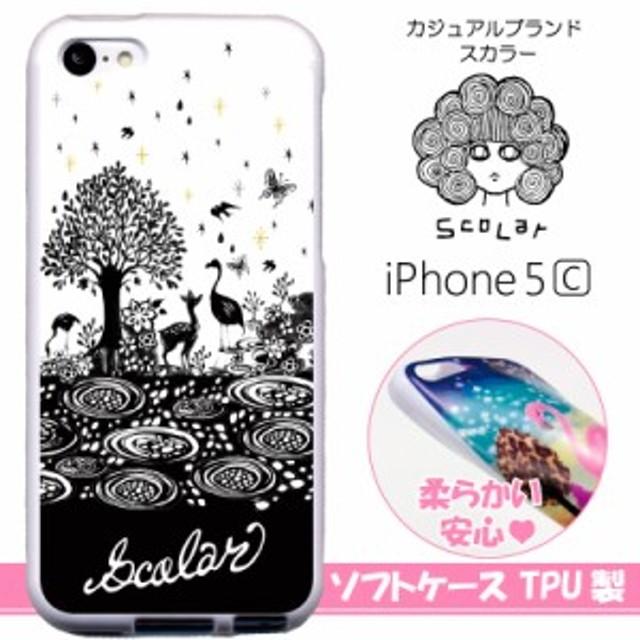 1c8e126f6d スカラー/50213/スマホケース/スマホカバー/iPhone5C/TPU-ホワイト/アイフォン/