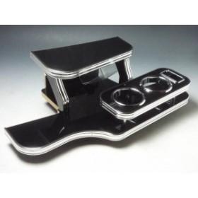 【売り切り! お買い得】LA100ムーブ前期 フロントテーブル ブラック BKxフルメッキ 携帯右