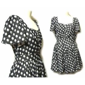 LOIS CRAYON プリンセスドットワンピース black princess dotted dress (ロイス クレヨン) 039411【中古】