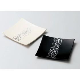 越前漆器 アールデコ ペア皿 溜・ホワイト 1組 (木質樹脂 ウレタン塗)807709