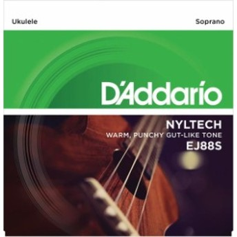 Daddario/ウクレレ弦 EJ88S ナイルテック/ソプラノ用【ダダリオ】