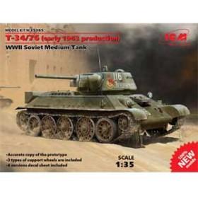 ICM 1/35 ソビエト T-34/76 1943 初期型【35365】プラモデル 【返品種別B】