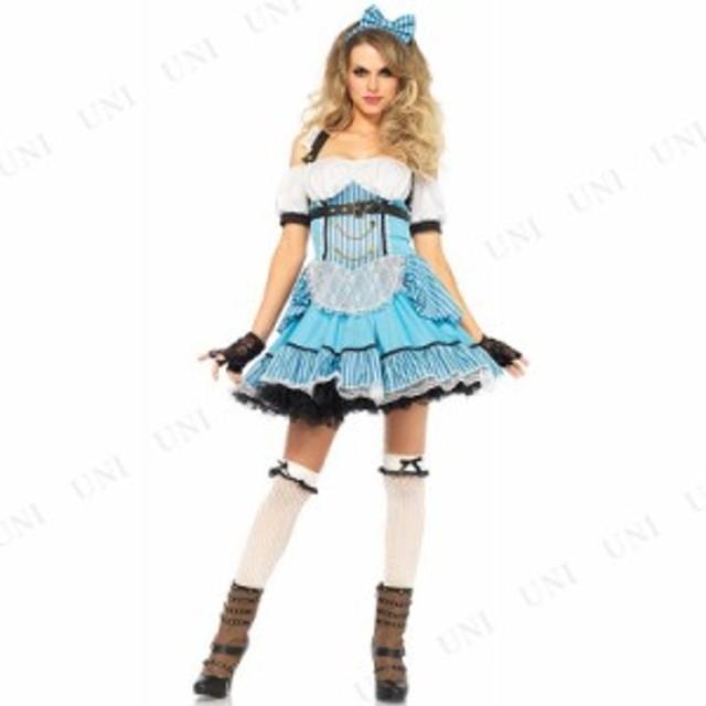 アリス ストライプドレス S 衣装 コスプレ ハロウィン 仮装 余興 コスチューム 大人用 女性 童話 不思議の国のアリス グッズ 女性用 レデ