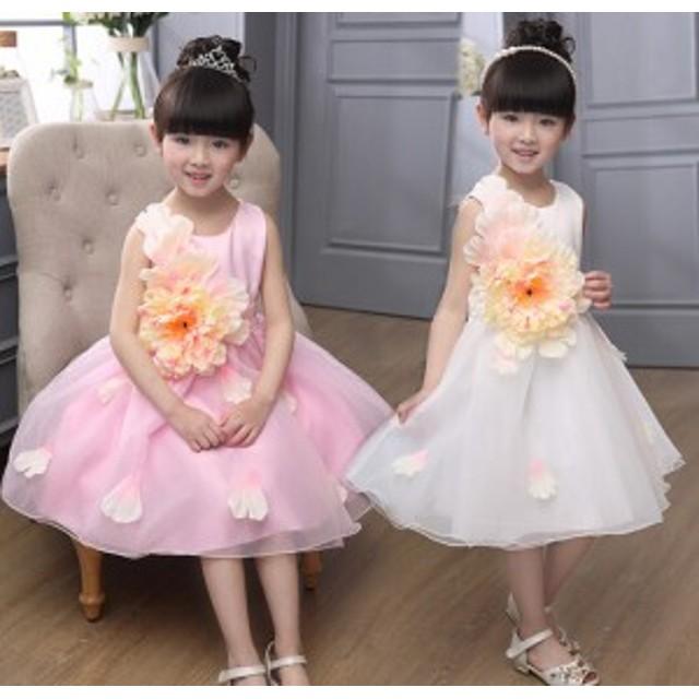2a265e6dacb58 パーティー プリンセス☆ピアノ発表会子供 女の子 キッズドレス ノースリーブワンピース