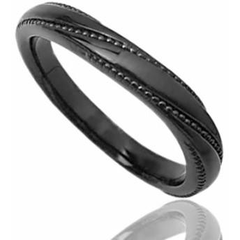 刻印無料 ブラックシルバー ペアリング マリッジリング 結婚指輪 メンズ単品|雑誌掲載人気ブランド|プレゼント推奨品|95-2035B