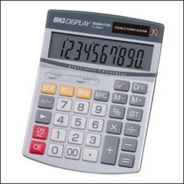 ADESSO アデッソ クロック D-2840T 電卓 ビッグディスプレイ電卓セミデスク10桁