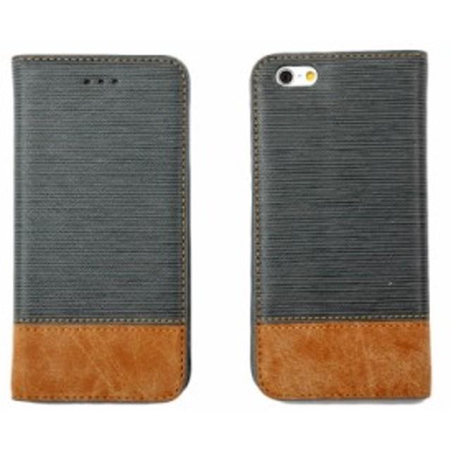 Apple iPhone 6/6s 木目調 両用 カード 財布式 スタンドケース#グレー【新品/送料込み】