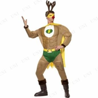 【送料無料】トナカイ コスプレ スーパーフィットトナカイ 大人用 M 仮装 衣装 コスプレ 大人 おもしろ クリスマス トナカイ 男性用 メ
