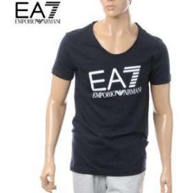 EMPORIO ARMANI EA7 エンポリオアルマーニ メンズVネックTシャツ 半袖 903018 6P625 ネイビー